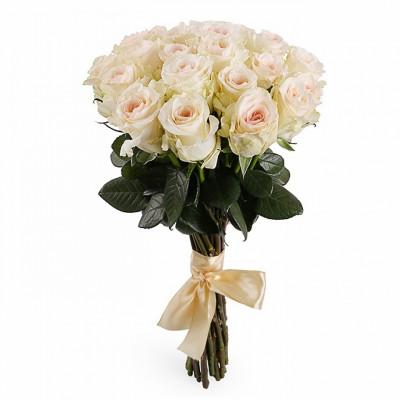 21 эквадорская  роза сорта Пинк Мондиаль 60 см