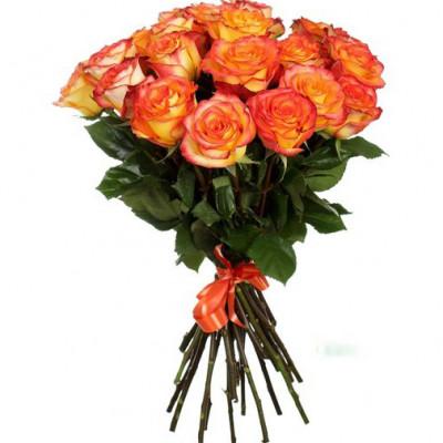 Букет из 19 оранжевых роз  60 см