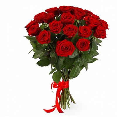 21 Красная роза сорта Наоми 90 см