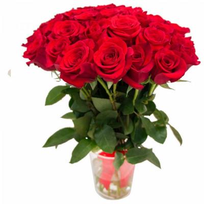 31 Красная роза 50 см