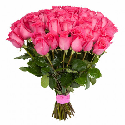 51 розовая роза 60 см