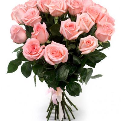 Букет из 17 нежно розовых роз  70 см