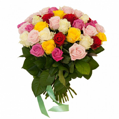 31 Разноцветная Роза Микс 80 см