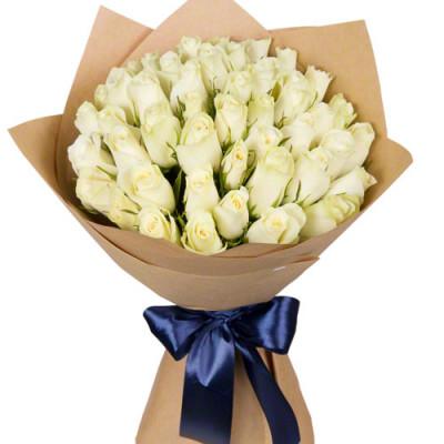 Букет из белой роз Кении