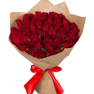 Букет из красных роз Кении