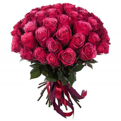 31 Малиновая роза 90 см