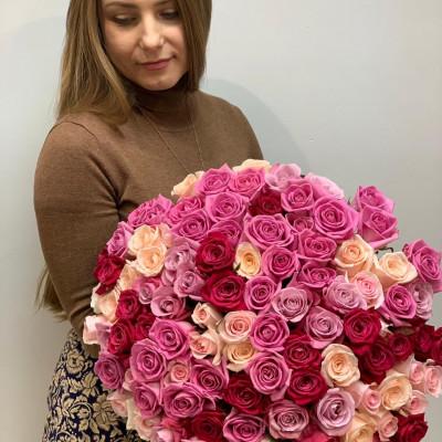 Афина 101 роза 60 см